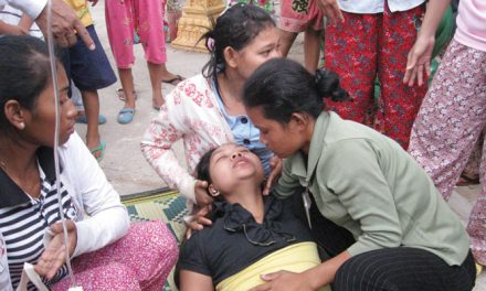 Cambodian guidelines to stop fainting of factory workers