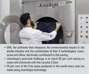 Jeanologia saves equivalent of one year's worth of human
