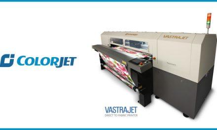 ColorJet displaying best-selling digital textile printer Vastrajet