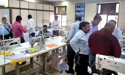 Silversun organises private show of direct drive industrial sewing machine in Mumbai