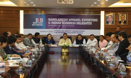 Bangla apparel exporters meet Indian business delegates