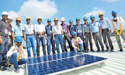 Sri Lanka's MAS Holdings mounts solar panels across plants
