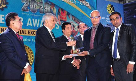 Teejay Lanka recognised for industrial excellence