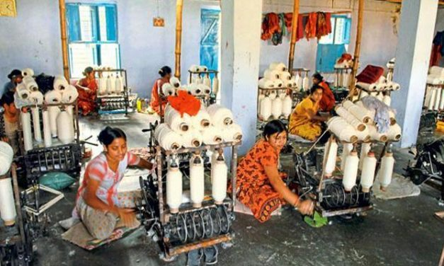 Growth in khadi fabric production in India