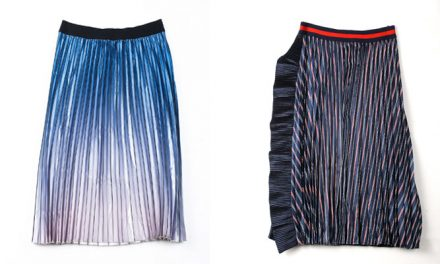 This season, Splash presents metallic skirts