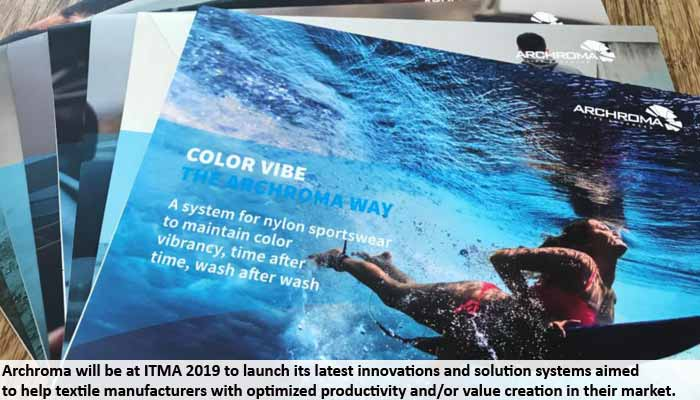 Archroma prepares for ITMA with 5 innovations and 24 system solutions