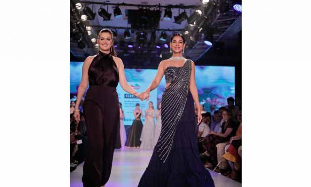 Rebecca Dewan presents Morning Mist at Gurugram International Couture Week