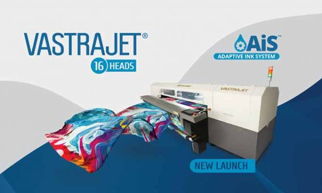 Colorjet to launch 16 Head Vastrajet® Digital Textile Printer with AiS™ at ITMA 2019