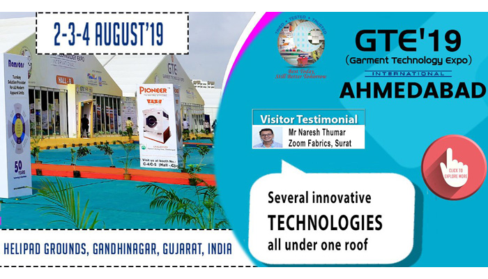 Countdown begins for Western India's largest garment technology show – GTE Ahmedabad 2019