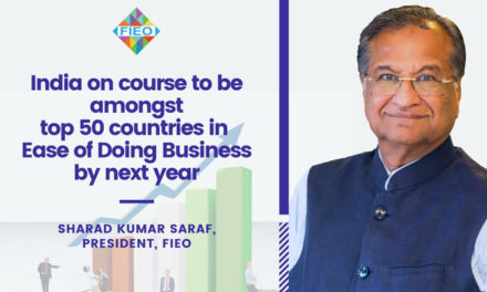 India to be amongst top 50 countries in Ease of Doing Business