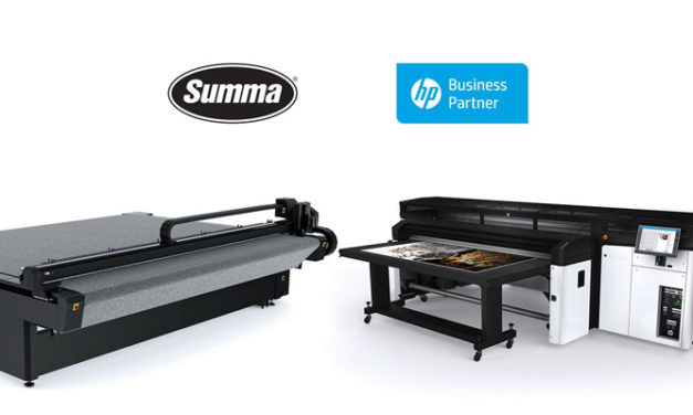 Summa F Series flatbed cutters validated for HP Latex R Printer Series