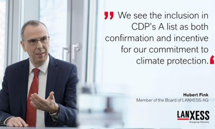 LANXESS honored by CDP for climate protection