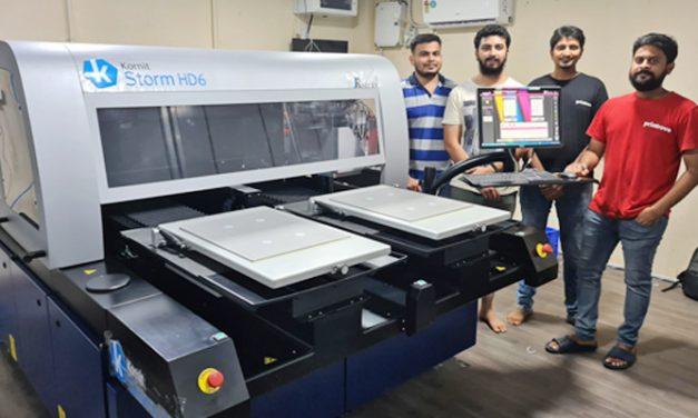 Arrow Digital Installs the latest industrial Direct to garment (DTG) Kornit Storm printer