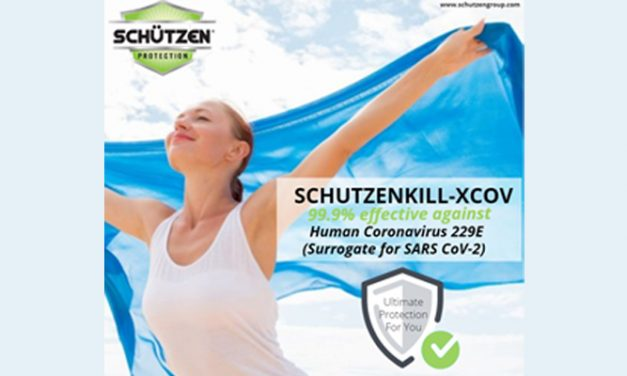 SCHUTZEN Chemical group successfully validates its Anti-microbial & Anti-Viral textile finish