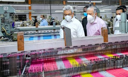Sri Lankan President urges local industries to commence production of high quality textiles