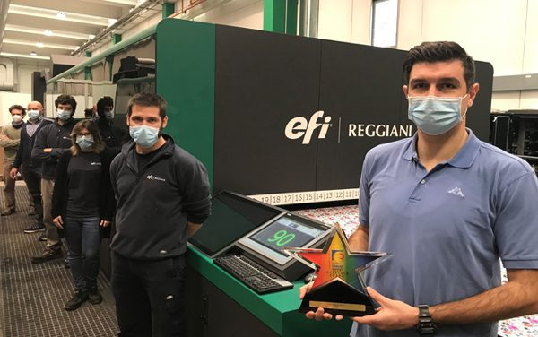 The EFI Reggiani BOLT Textile Printer Receives the InterTech Technology Award