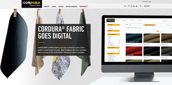 Cordura opens up Fabric Finder digital library