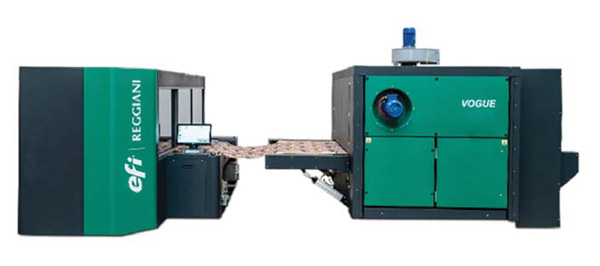 EFI Reggiani Vogue textile digital printer is the privilege sustainable process for Printing